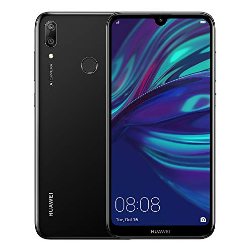 Huawei Y7 2019 Dub-LX3 32GB Unlocked GSM LTE Android Phone w/Dual 13MP+2MP Camera - Midnight Black