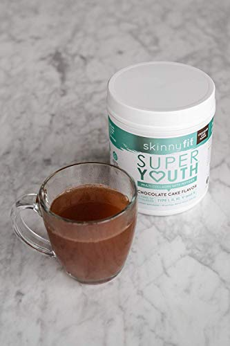 SkinnyFit Super Youth Multi-Collagen Peptide Powder Chocolate Cake Flavor, Hair, Skin, Nail, & Joint Support, 58 Servings 4