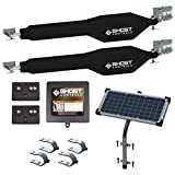 Ghost Controls TDS2XP Heavy-Duty Solar Dual Automatic Gate Opener Kit for Swing Gates Up to 20 Feet (ft.)