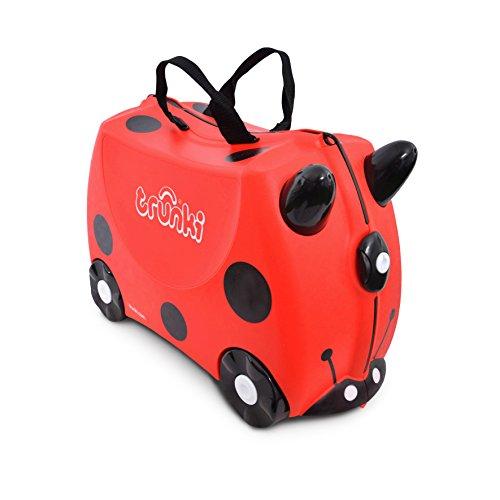 Trunki Valigia Cavalcabile Per Bambini: La Coccinella Harley (Rosso)