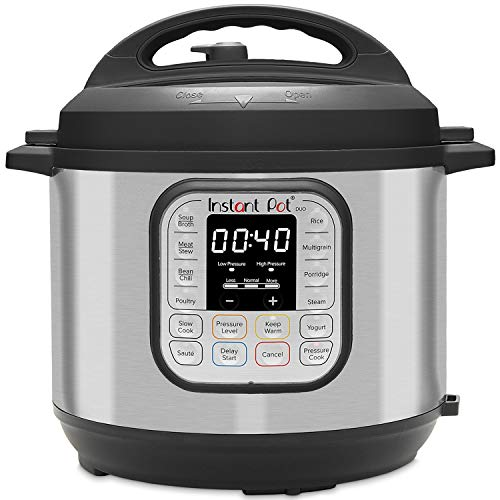 Instant Pot Duo 7-in-1 Electric Pressure Cooker, Slow Cooker, Rice Cooker, Steamer, Saute, Yogurt Maker, Sterilizer, and Warmer, 8 Quart, 14 One-Touch Programs