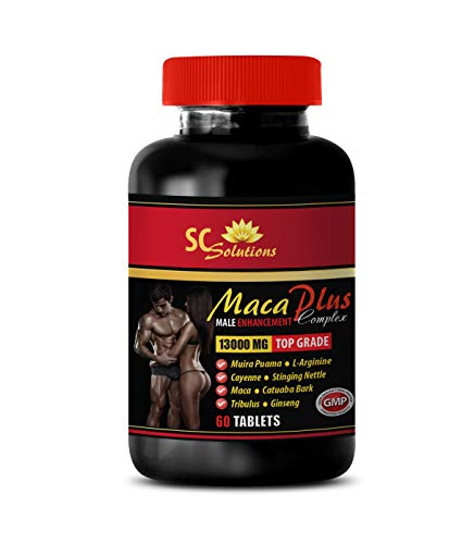 Male Enhancing Increase Size and Girth - MACA Plus Complex - Male Enhancement - arginine Supplement Sexual - 1 Bottle 60 Tablets