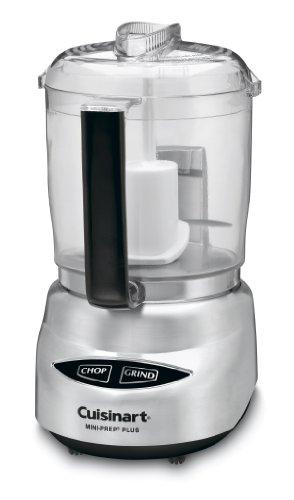 Cuisinart DLC-4CHB Mini-Prep Plus 4-Cup Food Processor, Brushed Stainless Steel (Renewed)