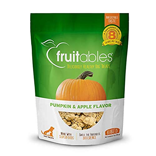 Fruitables Dog Treats | Dog Training Treats | Low Calorie Crunchy Treats | Pumpkin & Apple Flavor | 7 Ounces