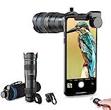 Apexel HD Cell Phone Lens-28X - Teleobjetivo con obturador para iPhone Samsung, Huawei, Xiaomi,...