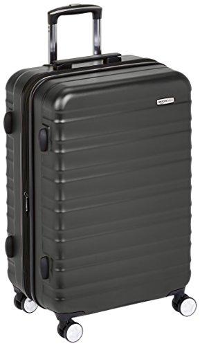 AmazonBasics - Trolley rigido Premium con rotelle pivotanti e lucchetto TSA integrato - 68 cm, nero