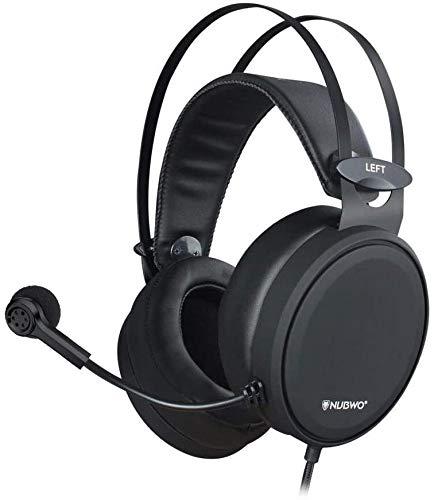 NUBWO PS4 N7 Casque de Gaming stéréo Xbox One avec Microphone Anti-Bruit pour PC, Mac, Playstation 4, Xbox One, Android et iPhone Noir