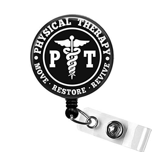 Physical Therapy Badge Reel, PT Retractable Badge Reel,...