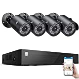 【5MP Cameras】 MTM Home Security Camera System Outdoor, 8 Channel H.265+ Surveillance DVR and 4 x...