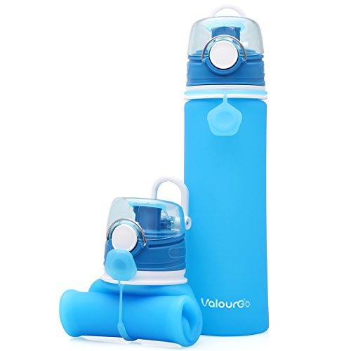 Valourgo Faltbare Wasserflasche mit Leck Sicherheitsventil - BPA Freies...