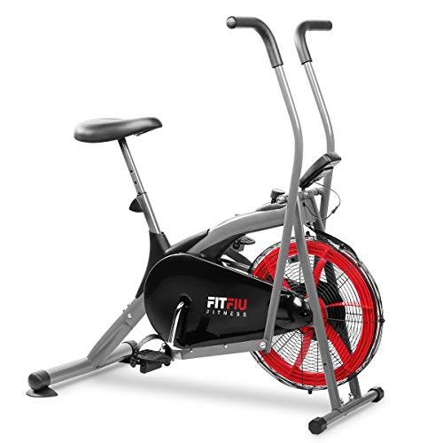 FITFIU Fitness BELI-150 - Vélo elliptique avec la résistance de l air, selle réglable et écran LCD multifonctionnel, Appareil fitness pour améliorer la résistance et entraînement cardio