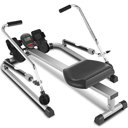 ANCHEER Hydraulisches Rudergerät, voll bewegliches, einstellbares Rudergerät mit 12-stufigem Widerstand und...