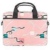 Bolso bandolera para portátil de 13 a 14,5 pulgadas, color rosa