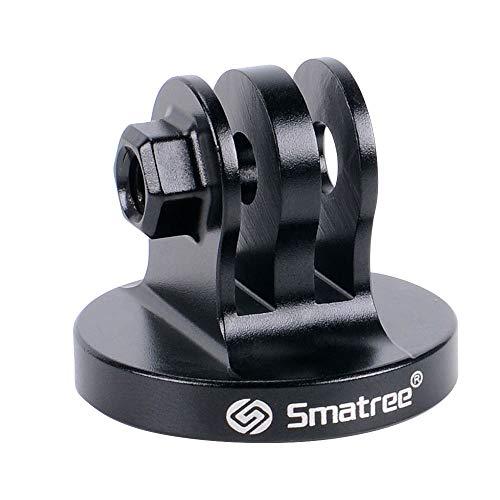 Smatree - Adattatore per treppiede in alluminio per GoPro Session, GoPro HERO 2018, GoPro HEROFusion, GoPro HERO8/7/6/5/4/3/2/1, colore: Nero