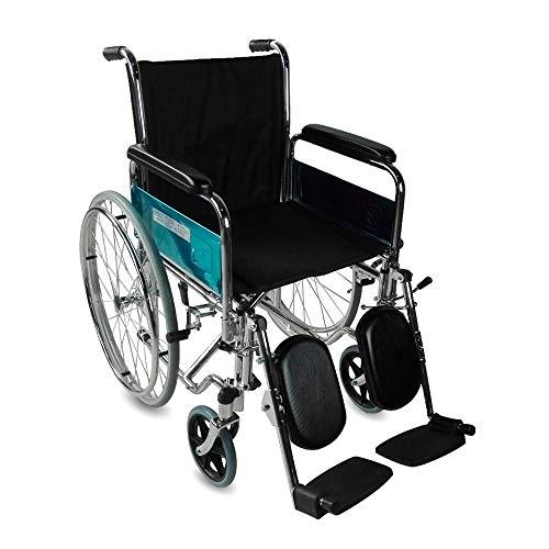 Mobiclinic, Partenón, Silla de ruedas para minusválidos y ancianos, premium, autopropulsable, manual, plegable, ortopédica, freno en manetas, reposapiés, reposabrazos, asiento, ultraligero