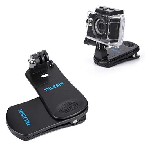 Sjpzwcrl per GoPro Clip, 360 Gradi Rotazione Regolabile Clip Gopro Accessori Rapido Rilascio Morsetto Mount su Zaino e Cappello Adatto per GoPro Hero Session 7 6 5 4 3 2018 Action Camera