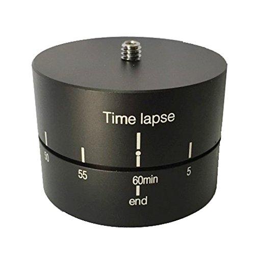 Tenlacum 360° 60 minuti panoramica rotante meccanica testa panoramica Time Lapse stabilizzatore con 1/4' 3/8' adattatore treppiede per GoPro/azione fotocamera Smart cellulari fotocamere DSLR