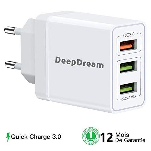 DeepDream Caricatore USB da Muro, Quick Charge 3.0...