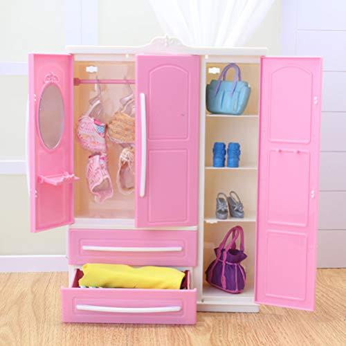 HEITIGN Organizzatore di Abbigliamento Guardaroba per Guardaroba per Bambole, Mini Armadio...