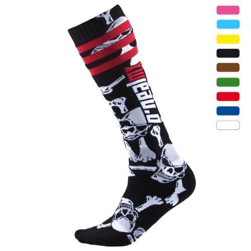 O\'NEAL Oneal Pro MX Socken Crossbone, Farbe Schwarz/Weiss, Größe One Size