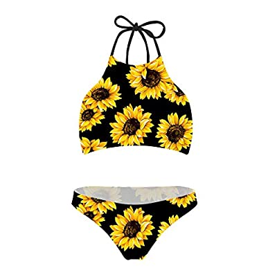 Material:80%Polyester+20%Spandex Regular Size:S M L XL XXL Adjustable ties at neck and back and with padding bra. Smooth fabric bikini swimsuit sets are very stretchy, comfortable and durable.Latest design keep women always fashion and comfortable.Id...