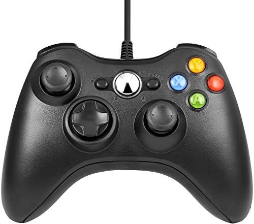 Xbox 360 Mando de Gamepad, Mando PC, Mando Xbox 360 con Vibración, Controlador de Gamepad para Xbox 360 Mando para PC Windows XP/7/8/10