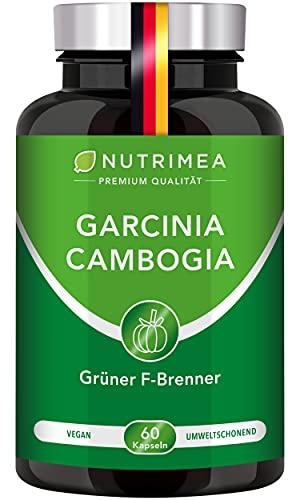 Abnehmen mit Garcinia Cambogia | 60% HCA Hochdosiert | 100% Natürlicher Fatburner + Kohlenhydratblocker + Appetitzügler | Vegane Kapseln Keto Burn