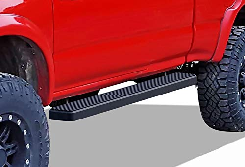 APS iBoard Running Boards (Nerf Bars Side Steps Step Bars) Compatible with 1995-2004 Tacoma Extended Xtra Cab Pickup 2-Door (4WD or Prerunner 2WD 4WD) (Black Powder Coated 5 inches)