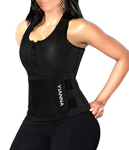 5. YIANNA Sweat Neoprene Sauna Suit Tank Top Vest