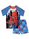 Marvel Pijamas para Niños Spiderman Azul 4-5 Años