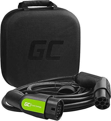 Green Cell® GC Type 2 Cable de Carga EV Vehículo Eléctrico PHEV | 11kW | 16A | Tipo 2 a Tipo 2 | 5 Metros | Trifásico | Compatible con Model S / 3 / X/Y, ID.3, E-Tron, Leaf, I-Pace, XC40 Electric
