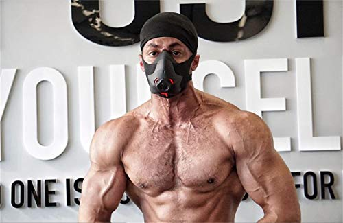 Sport Workout Training Mask Hypoxic Breathing Resistance Mask Fitness Running Mask Endurance Mask Achieve High Altitude Elevation Effects with 3 Level Air Flow Regulator (II)