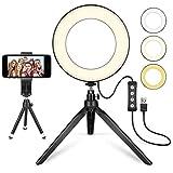 MACTREM LED Ring Light 6' avec trépied pour Selfie/Maquillage Live Stream...