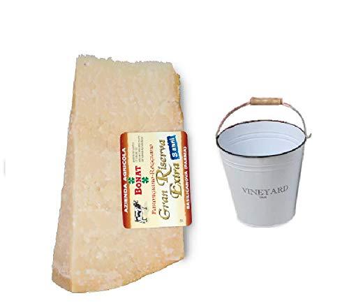 Queso Parmesano Bonat 1KG curado durante 24 meses + cubo de hielo incluido en el precio