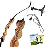 KESHES Takedown Hunting Recurve Bow and Arrow - 62 Archery Bow for Teens and Adults, 15-60lb Draw...