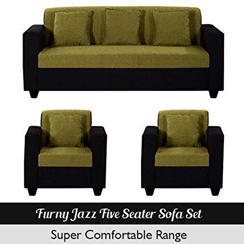Furny Jazz 3+1+1 5 Seater Sofa (Green-Black)