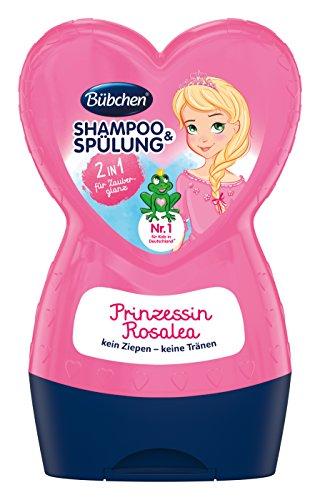 Bübchen Kids Prinzessin Rosalea Shampoo und Spülung, Kinder-Shampoo und -spülung, pH-hautneutral, für weiches Kinderhaar, für Zauberglanz, Menge: 1 x 230 ml