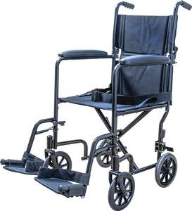 Medical Supply Transport Chair Wheel Chair, 19', Silver