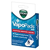 Vicks VapoPads, 6 Count – Soothing Menthol Vapor Pads for Vicks Humidifiers, Vaporizers, Waterless Vaporizers, and Plug-Ins, VSP-19