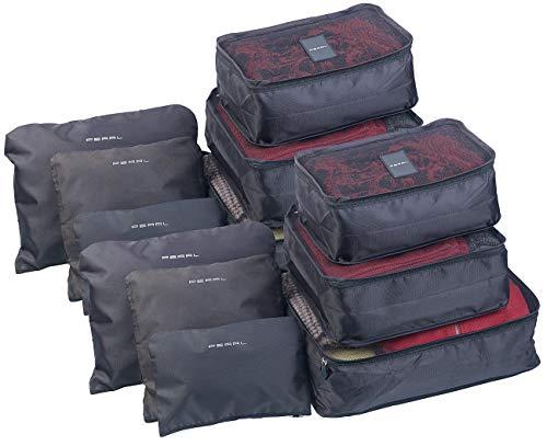 PEARL Koffertaschen: 12er-Set Kleidertaschen für Koffer, Reisetasche & Co, 6 Größen (Koffertaschen Set)