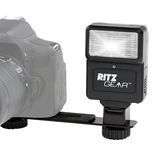 Ritz Gear Digital Camera Flash with Bracket for DSLR, SLR, and Mirrorless Cameras