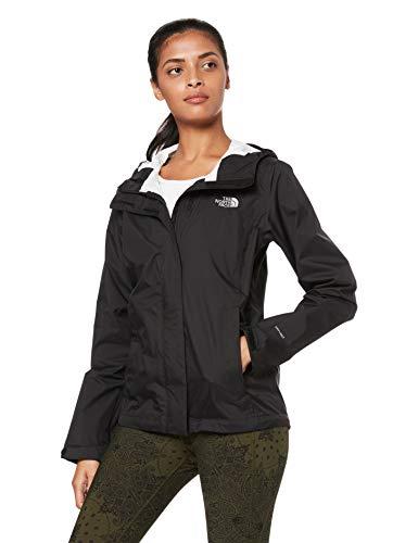 The North Face Women's Venture 2 Waterproof Hooded Rain Jacket, TNF Black, L