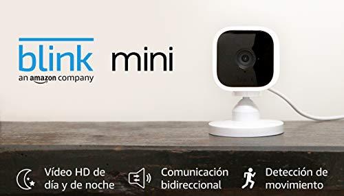 Blink Mini, cámara de seguridad inteligente, compacta, para...