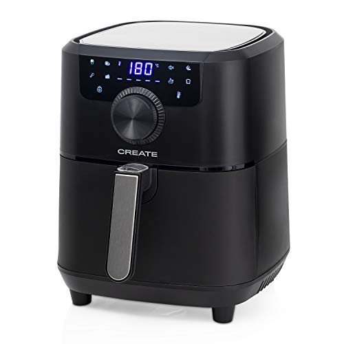 IKOHS Create Fryer Air Pro Freidora sin Aceite, Cocina sin Aceite, 8 Programas Preinstalados, 3,5 l, 1500W, Cesta Antiadherente, Temperatura Cocción 80-200°, Apagado automático, Programable (Negro)