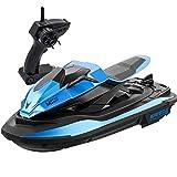Moto de agua de alta velocidad Control remoto eléctrico Barco de velocidad de 4 canales Recargable Radio de 2,4 G RC Juguetes anticolisión Barco de velocidad Modelo 1/14 Barco de motor para piscinas L