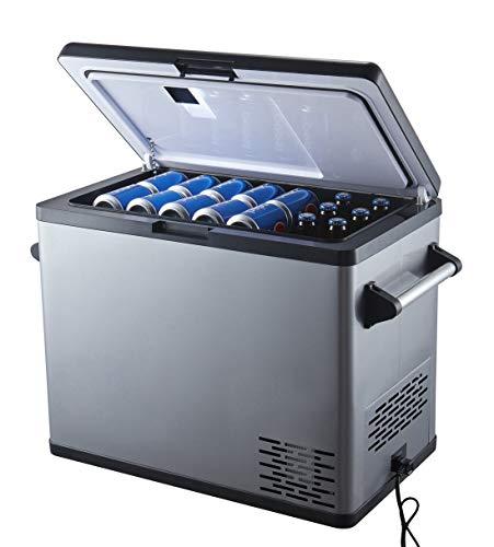 Ausranvik 54 Quart Portable Refrigerator – 4°F Degree - 12V DC, 110V AC Power - Large Capacity – Single Door - Fridge Freezer for Car, Camping, Boat, Road Trip.