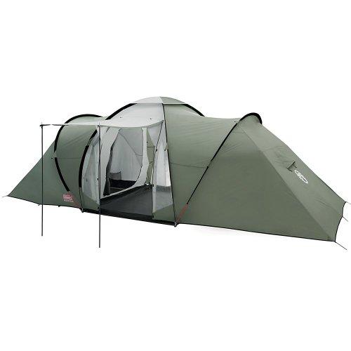 Coleman Zelt Ridgeline 6 Plus, 6 Mann Zelt, 6 Personen Vis-A-Vis Tunnelzelt, Campingzelt, Kuppelzelt mit Sonnendach, wasserdicht WS 4.000mm