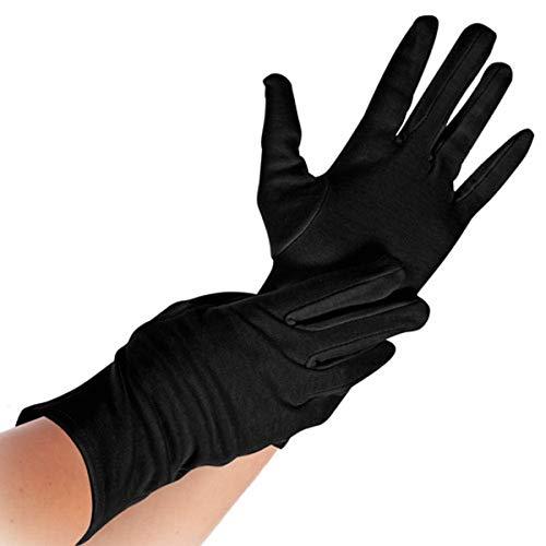 Baumwoll-Arbeitshandschuh, Schutzhandschuh, Trikothandschuh, Arbeitshandschuh, Unterzieh-Handschuh, schwarz, S, M, L, XL, Größe:L - 4 Paar