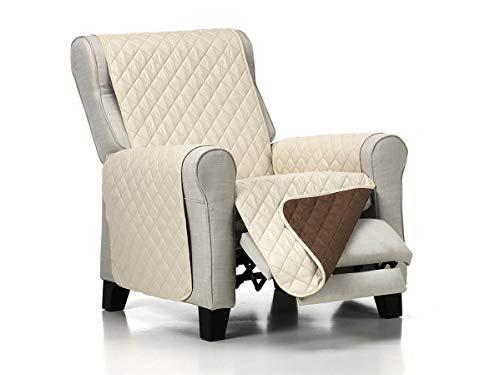 Lanovenanube - Funda sillón Acolchado - Práctica - 1 Plaza - Color Beig C02