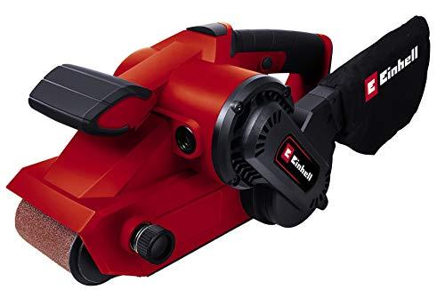 Einhell TC-BS 8038 Ponceuse à bande avec sac à poussière, 800 W, 230 V, rouge, taille unique